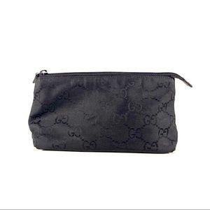 Gucci Monogram Black Cosmetic Case Pouch GG